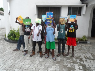 Posing with the books they read