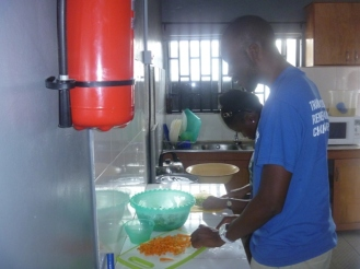 Victor and Yemi help out