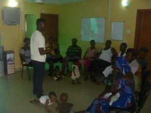 Ayo educates the local women