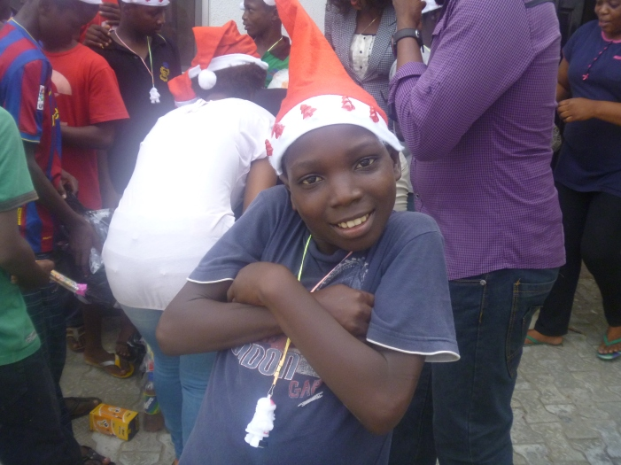A child at Christmas