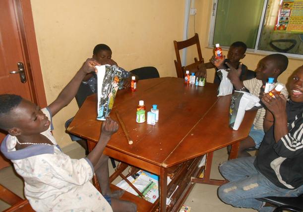 Sanitary gifts at Ebola Talk