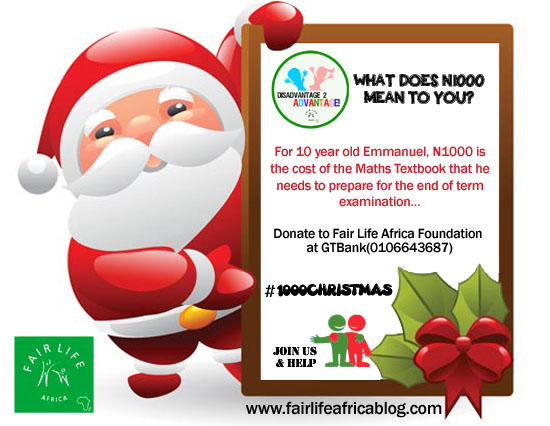 Donate as little as N1000 to help a child
