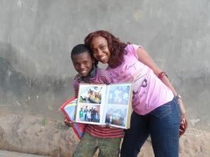 Ufuoma visits an FLA Kid at home