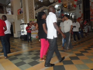 Unsuspecting crowd at Silverbird Galleria