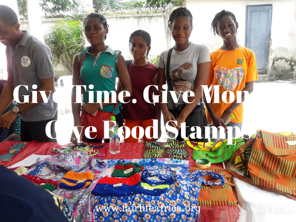 Give Time. Give Money. Give Food Stamps.